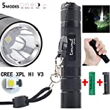 1200 Lumens Flashlight Baomabao XPL Hi V3 High Power Pocket Light Penlight 5 Modes Light Torch+Battery