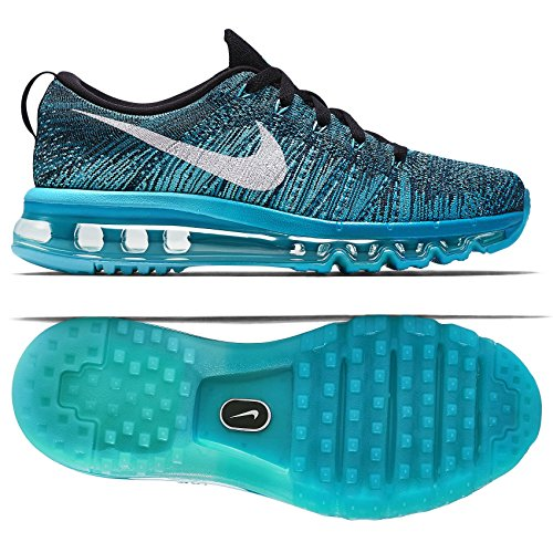 Nike WMNS Flyknit Air Max 620659-003 Black/White/Tide Pool Blue Women's Shoes