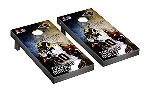 NFL Los Angeles Rams Todd Gurley 30 PA Version Corn hole Game Set, One Size by Victory Tailgate