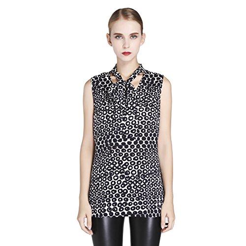 MAXdesign Women's Sleeveless Top (M, Black)