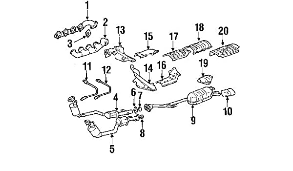 Amazon Com Mercedes Benz 126 997 00 41 Catalytic Converter Gasket
