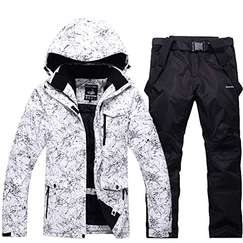Ski Snowboard Pants - Fashion Women's High Waterproof Windproof Snowboard Colorful Printed Ski Jacket and Pants (style1, 2XL)