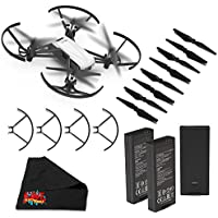 Ryze Tello Quadcopter Drone with 720P HD Camera Live Video and VR, Educational and Interactive Toy for Kids & Beginners(without controller)- Essential Bundle