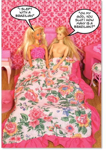 Slept With A Brazilian - Hysterical Birthday Greeting Card with Envelope (4.63 x 6.75 Inch) - Girl Blonde Toys, Funny Birthday Appreciation Card for Women - Cute Gratitude Card for Birthdays 3605 (Cute Birthday Cards For Best Friend)