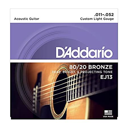 D'Addario EJ10 80/20 Bronze Extra Light  (.010-.047) Acoustic Guitar Strings D' Addario Ltd Musical Instrumenmts Portable_Electronics martin ernie ball rotosound elixir daddario dadadrio diadrio coated