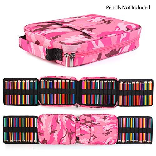 qianshan 100 120 132 144 150 colored pencils universal pencil bag organizer slots holder pen