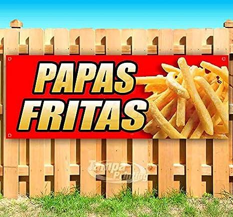Amazon.com: Papas Fritas - Cartel de vinilo resistente con ...