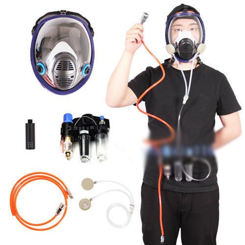 [Waller PAA] Three-in-One Function Supplied Air Fed Respirator System 6800 Full Face Gas Mask