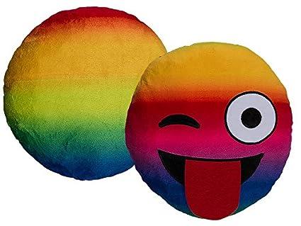 Cojín suave peluche Emotion Tongue 30 cm sofá cama WhatsApp Multicolor New