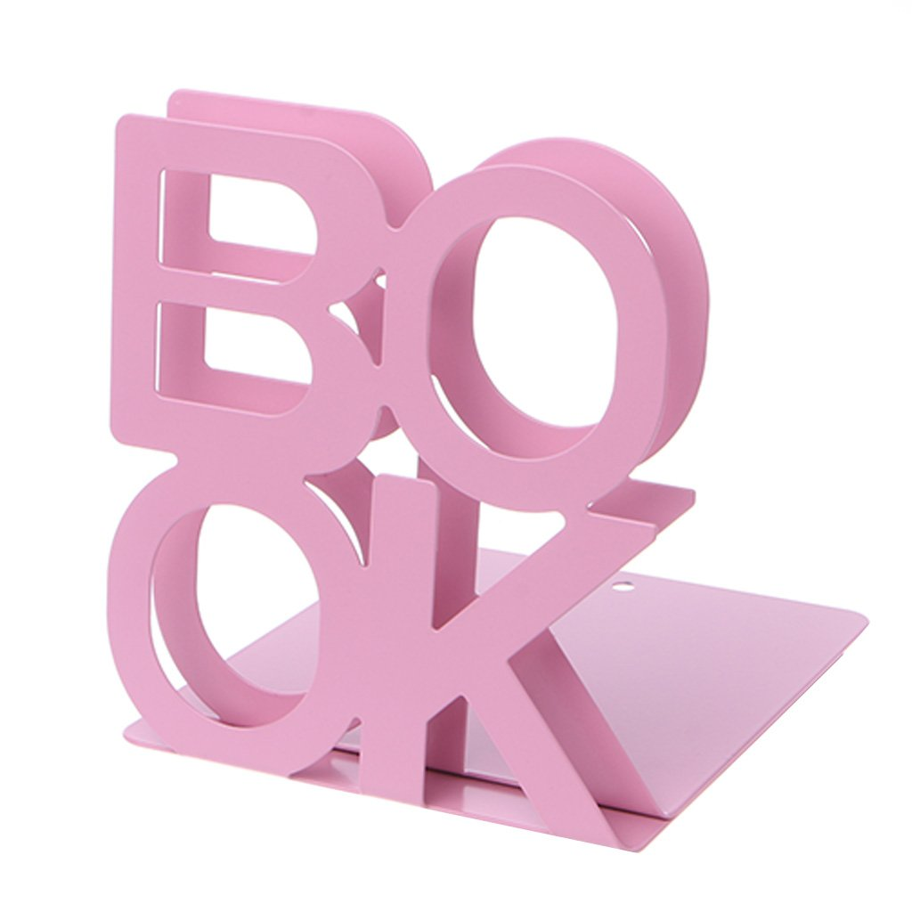 Huiouer Fermalibri in metallo a forma di alfabeto BK