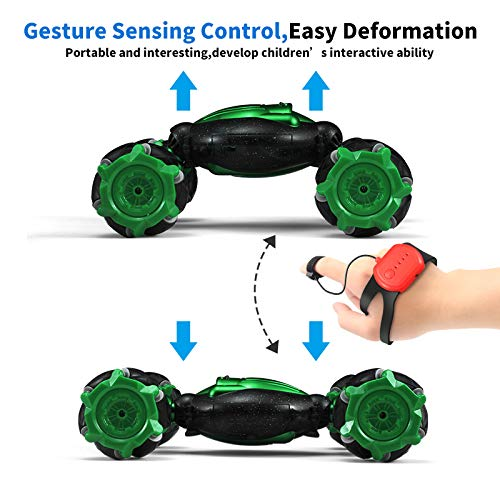 RC Stunt Car,4WD 2.4GHz Remote Control Gesture Sensor Toy Cars,360 Degree Flip Double Sided Twisting Off-Road Vehicle,Best Toy Gift for Kids and Adults