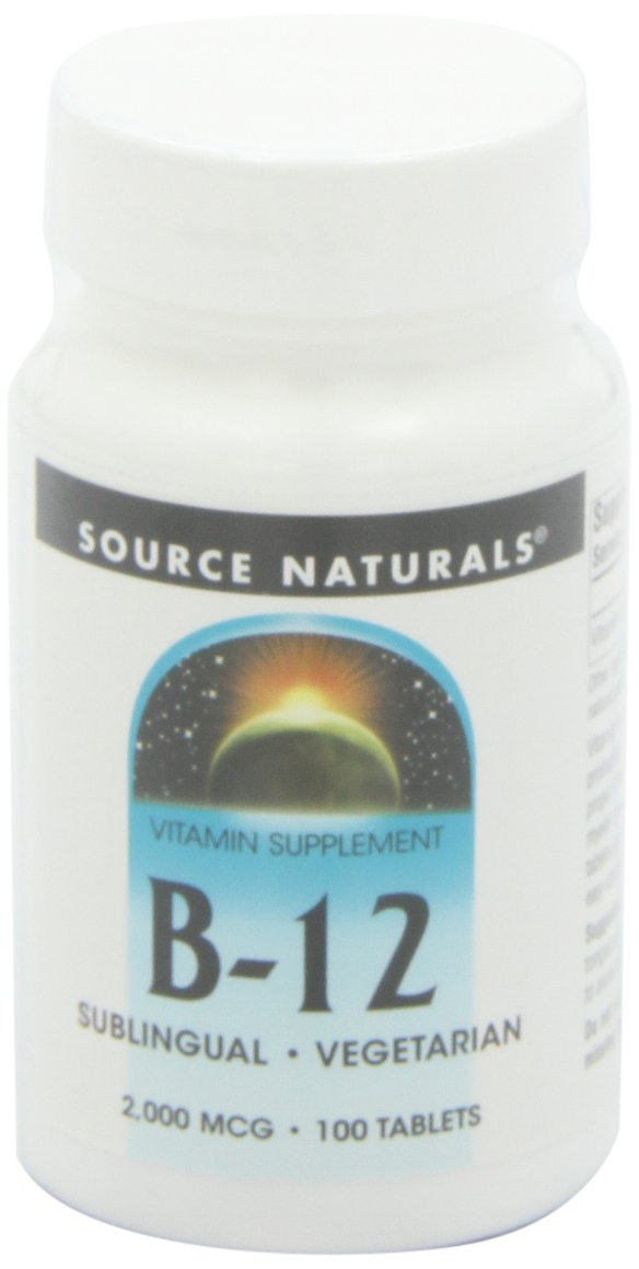 Source Naturals: B-12 2000mcg, 100 tabs (Pack of 3)