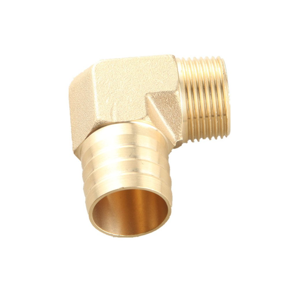 Brass Hose Barb Fitting Coupler//Connector 4mm Male Barb To 1//8 NPT Pipe Male Thread