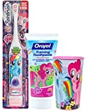 My Little Pony ''Rainbow Dash'' Inspired 3pc Bright Smile Oral Hygiene Toothbrush Gift Set! Plus Bonus My Little Pony Mouthwash Rinse Cup!