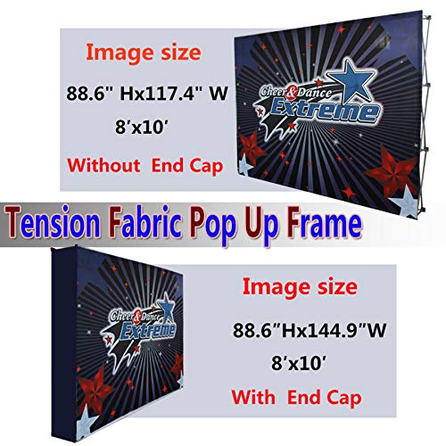 Picture Wall Art Your Photo on Custom 3x4 (8x10 with end caps) Printing Velrco Tension Fabric Backdrop Booth Frame Straight Pop Up Display Stand ()