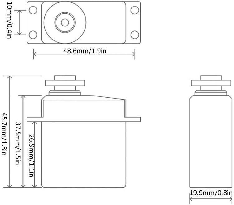 LRP Traxxas Absima HPI DF // FS // ZD-RC-Rennwagen 1//10 3KG Plastic Gear Servo passend f/ür Redcat Hobao Team HSP