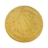 Connoworld Embossing Virtual Digital Currency EOS Commemorative Coin Collectible Souvenir - Golden