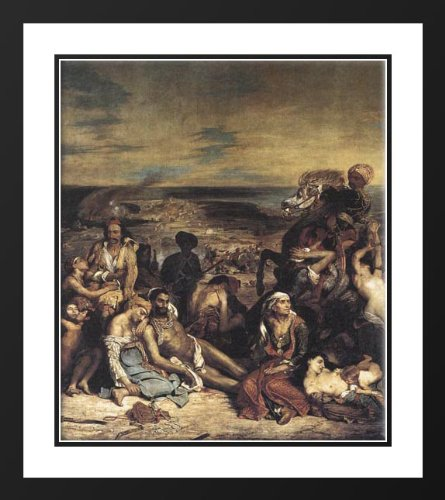 The Massacre at Chios 20x23 Framed and Double Matted Art Print by Delacroix, Eugene (The Massacre At Chios By Eugene Delacroix)
