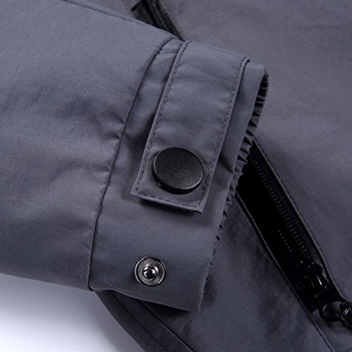 Jacket L Outwear Windproof Coat Men's Hoodie Size 5XL Sleeve calidad Soft Zhhlaixing Windbreaker Running Long negro buena q6BRwP