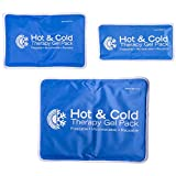 Roscoe Reusable Cold Pack and Hot Pack - Ice Pack For Knee, Shoulder, Back, Injuries - Microwave Heating Pad, 5 x 10 Inches