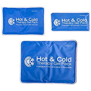 Roscoe Reusable Cold Pack and Hot Pack – Ice Pack For Knee, Shoulder, Back, Injuries - Microwave Heating Pad, 7.5 x 11 Inches