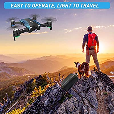 GPS Drone with 2K Camera 5G WiFi FPV RC Quadcopter for Adults Auto Return Home Function Follow Me with Portable Carry Case 2 Batteries Foldable Drones for Beginners