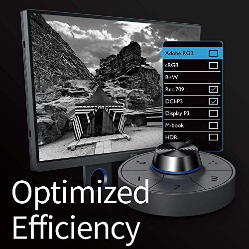 BenQ SW270C PhotoVue 27 Inch QHD 1440P IPS Photo Editing Monitor   HDR, 99% Adobe RGB, sRGB, REC 709   AQcolor Technology for Accurate Reproduction, Black