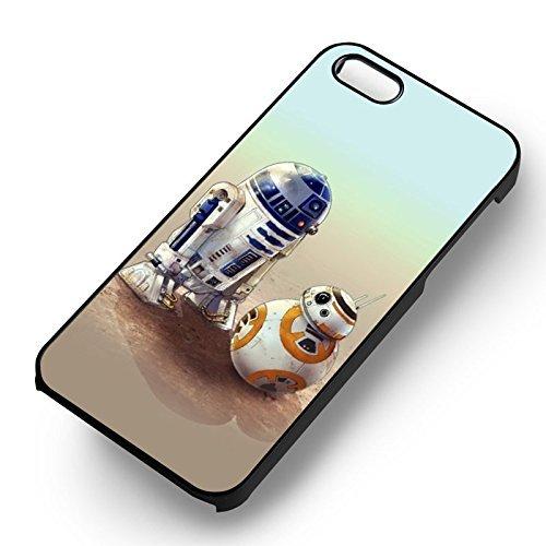 BB 8 et R2 D2 pour Coque Iphone 6 et Coque Iphone 6s Case (Noir Boîtier en plastique dur) S4Q8FB