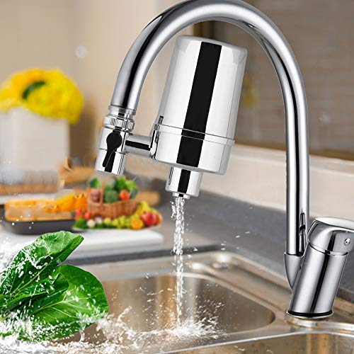 WaterQueen Water Faucet Filtration System, Advanced Water Faucet Mount Filter, Soften Hard Water, Improve Taste, Suitable for Kitchen and Bathroom Water filter