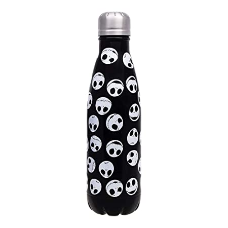 The Nightmare Before Christmas Nightmare Before Christmas: Metal Water Bottle: Jack Heads, Steel, Multicolour, One Size