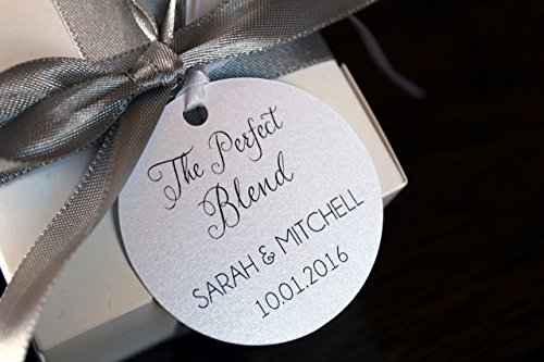 Coffee Perfect Favors Blend Wedding - The Perfect Blend Coffee Wedding Favor Tags