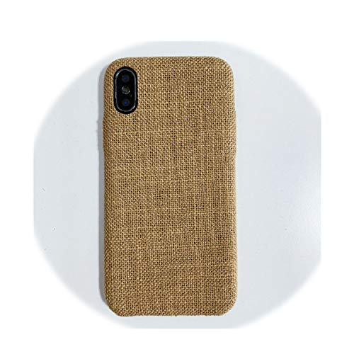 Luxury Phone Case On for iPhone Xs Xr Xs Max Vintage Cotton Linen Soft Silicone TPU Cover for iPhone 6 6S Plus 7 8 Plus X Case, Show,for iPhone 7