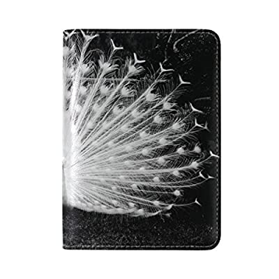 504cfad6d846 ALAZA Peacock Feather Leather Travel Passport Covers Holder Case Protector  high-quality. Material Outer Two ...