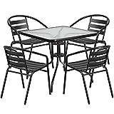 Flash Furniture 5 Piece Aluminum Patio Dining Set