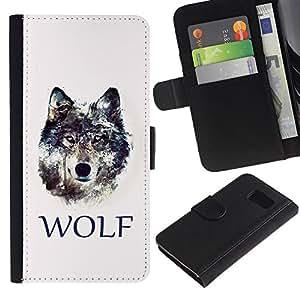 All Phone Most Case / Oferta Especial Cáscara Funda de cuero Monedero Cubierta de proteccion Caso / Wallet Case for Sony Xperia Z3 Compact // WOLF