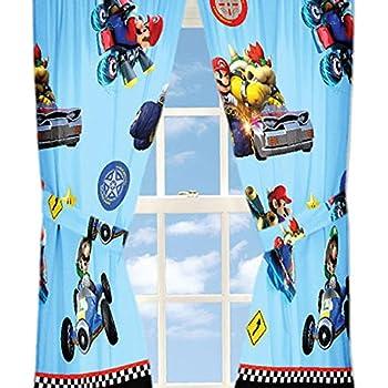 Amazon Com 4pc Nintendo Super Mario Kart Curtain Set Road