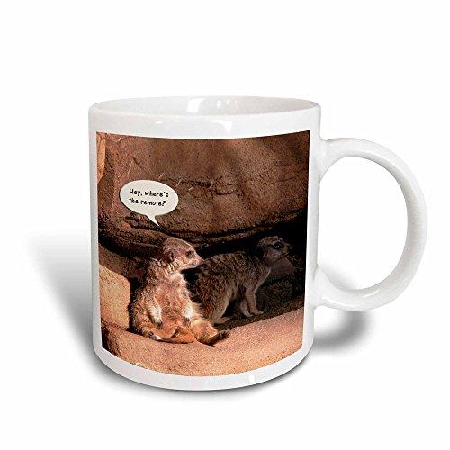 3dRose 20862_3 Meerkat Humor Mug, 11 oz, -