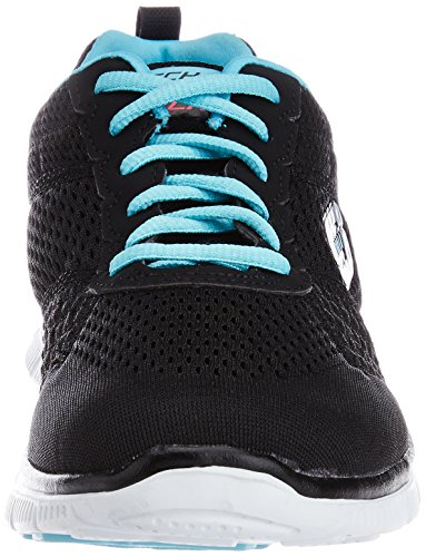 para Skechers Choice Negro Bklb Flex Appeal Zapatos Mujer Obvious qrXarp4wt