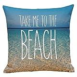 Staron Ocean Printing ''TAKE ME TO THE BEACH''Sofa Bed Home Decor Pillow Case Cushion Cover