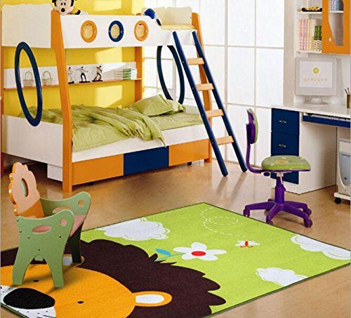 HUAHOO Lion Carpet Kids Rugs Inches Cartoon Animal Baby Mat Crawling Pad/Game