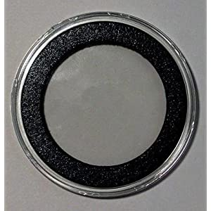 "25 Air-Tite ""I"" Black Ring Coin Holders for 40mm Coins"