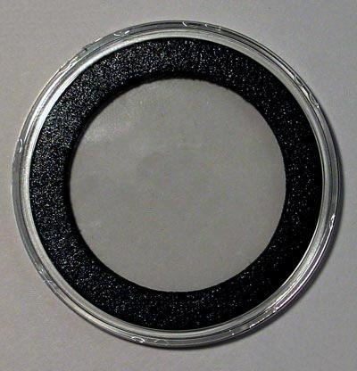 Air-Tite (25) 39mm Black Ring Coin Holder Capsules for 1oz Silver & Copper Rounds Casino Chips ()