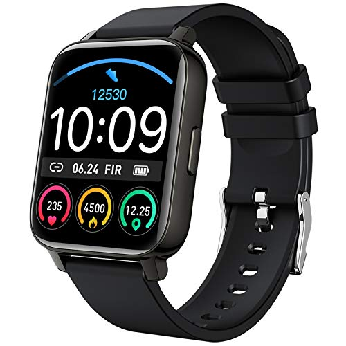 Smart Watch 2021 Watches for Men Women, Fitness Tracker 1.69″ Touch Screen Smartwatch Fitness Watch Heart Rate Monitor, Pedometer, Sleep Monitor, IP67 Waterproof Activity Tracker for Android iPhone