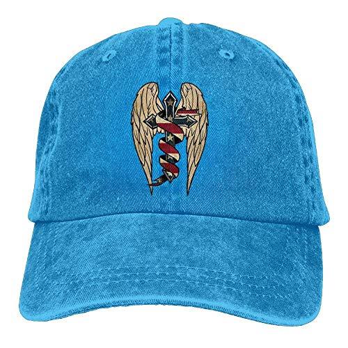 hanbaozhou Gorras béisbol American Patriot Denim Hat Adjustable Male Fitted Baseball Hats