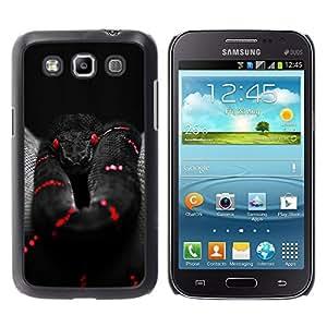 YOYOYO Smartphone Protección Defender Duro Negro Funda Imagen Diseño Carcasa Tapa Case Skin Cover Para Samsung Galaxy Win I8550 I8552 Grand Quattro - serpiente venenosa negro rojo oscuro y profundo