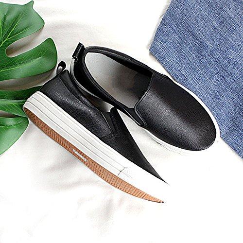 Perezosos Nan Verano Coreana de Negro Zapatos Zapatos mujer Zapatos Blancos Zapatos Solos Transpirables Versión B8qHxE