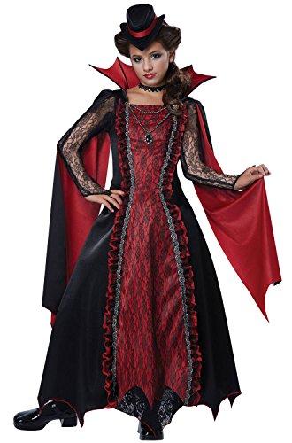 California Costumes Victorian Vampira Child Costume, Medium (Child Girl Vampire Costume)
