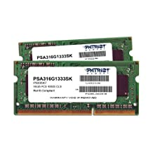 Patriot Memory Mac Series 16GB Apple SODIMM Kit 2X8GB DDR3 1333 PC3 10600 204Pin SODIMM PSA316G1333SK