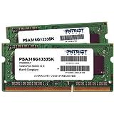 Patriot Mac Series 16GB Apple SODIMM Kit (2X8GB) DDR3 1333 PC3 10600 204-Pin SO-DIMM PSA316G1333SK