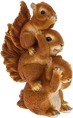 Ne voir aucun mal 3 sages /écureuils entendre aucun mal LP Garden Pals Figurine triple /écureuil ne parler aucun mal